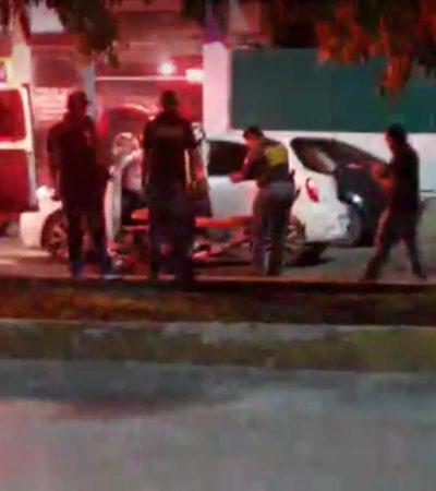 ATAQUE A BALAZOS EN LA REGIÓN 95: Disparan en la madrugada contra tripulantes de un March en la Avenida Andrés Quintana Roo de Cancún; al menos un herido