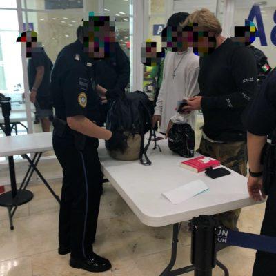 Refuerza Policía Federal vigilancia en las terminales 2, 3 y 4 del aeropuerto internacional de Cancún para prevenir trata y tráfico de personas