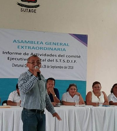 Presionan en asamblea y habrá reelección en el Sindicato de Trabajadores del DIF