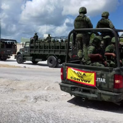 Afinan acto protocolario para el inicio de operaciones en Cancún de la Brigada de la Policía Militar a partir del 9 de octubre