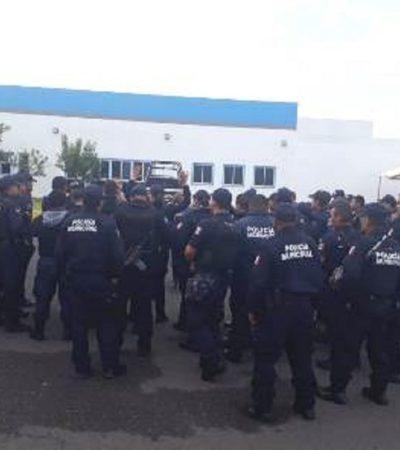 Paran labores policías de Zamora en protesta por plagio de compañera; acusan que mandos les pidieron no actuar contra crimen