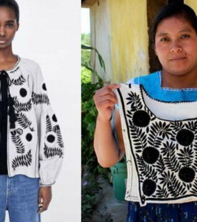 Denuncian artesanas chiapanecas a Zara por plagiar uno de sus bordados tradicionales