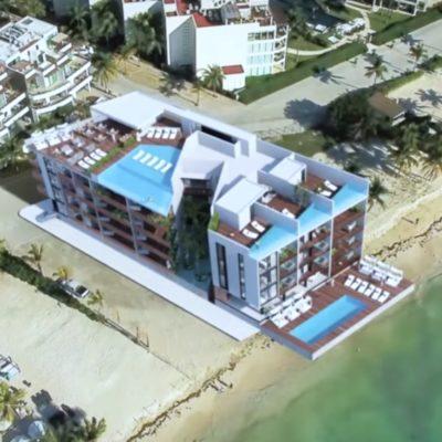 Buscan construir mega edificio en predio costero de la CTM que obtuvo beneficio de cambio de uso de suelo por Cristina Torres y el Cabildo; de autorizarse, afectaría la playa pública, debido a la constante erosión de la zona
