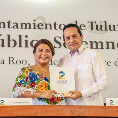 SEGUNDO INFORME EN TULUM: Cero deuda pública y más de 100 millones de pesos en las arcas municipales para la siguiente administración, reporta Romi Dzul