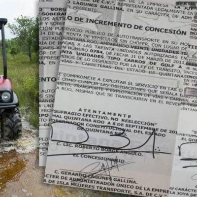 PERSISTEN VICIOS Y MAÑAS DEL BORGISMO: Emiten títulos de concesión, desde taxis hasta carros de golf, duplicados o con firmas falsas que son avalados por la actual Sintra