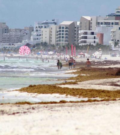 Secretaria de Turismo insiste que no hay cancelaciones por presencia de sargazo
