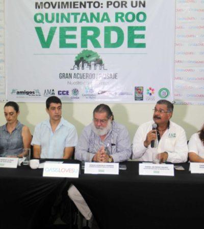 ASOCIACIONES Y EMPRESARIOS PIDEN UN QR VERDE: Presentan la iniciativa del 'Gran Acuerdo por el Paisaje', con el que se busca rescatar el patrimonio forestal y rescatar la imagen urbana