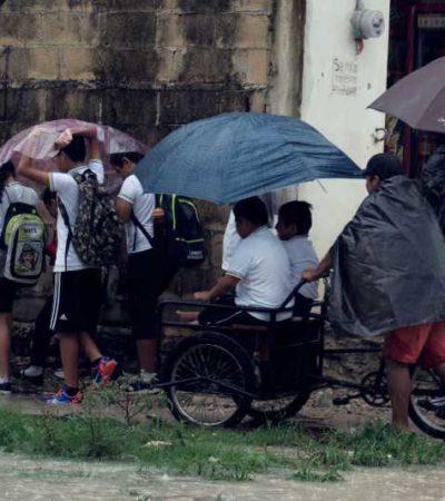 SUFRE CANCÚN POR LAS LLUVIAS: Zona de inestabilidad afecta a toda la península de Yucatán, pero exhibe deficiencias en el principal destino turístico de QR