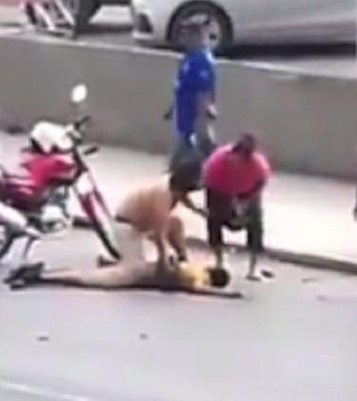 VIOLENCIA EN EL FUTBOL: Dice jefe policiaco de Nuevo León que no intervinieron en riña entre aficionados de Tigres y Rayados por inferioridad numérica