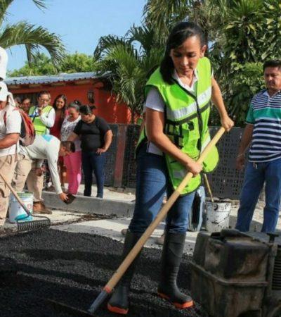 Inicia gobierno un programa permanente de bacheo en Puerto Morelos