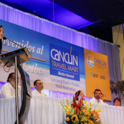 Participa Laura Fernández en el Cancún Travel Mart y llama a enfrentar los retos del turismo con responsabilidad