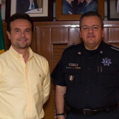 Se reúnen Pedro Joaquín y Jesús Capella Ibarra para afinar detalles sobre el mando único policial