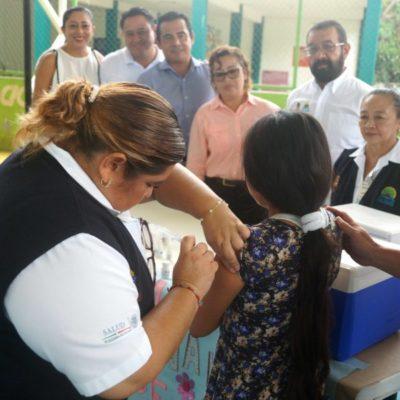 Inauguran Tercera Semana Nacional de Salud en el domo deportivo de la delegación de Leona Vicario de Puerto Morelos