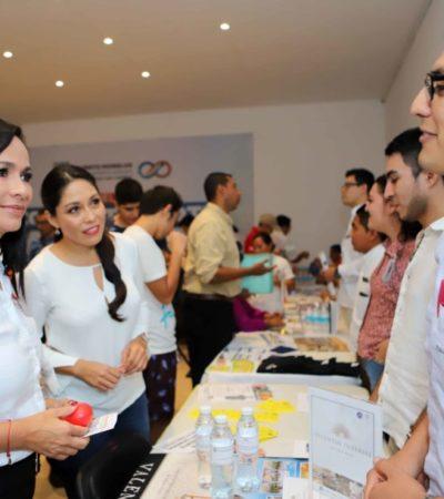 Ofrecen 550 vacantes durante la inauguración de la Feria del Empleo en Puerto Morelos