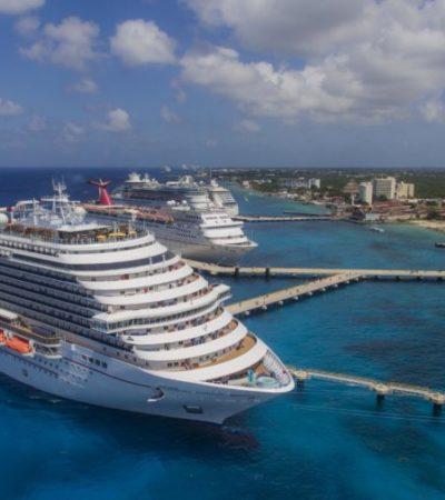 """""""Navieras estadounidenses reafirman confianza hacia Cozumel como destino seguro"""", asegura Pedro Joaquín, al dar la bienvenida al crucero 'Carnival Horizon'"""