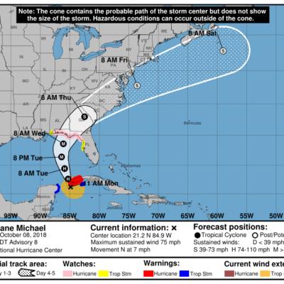 'MICHAEL' SE CONVIERTE EN HURACÁN: Fenómeno hidrometeorológico continuará en ruta hacia el Golfo de México, pero alejándose de costas de QR