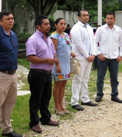 Dan 'banderazo' de salida a desayunos escolares fríos en 147 escuelas de Carrillo Puerto