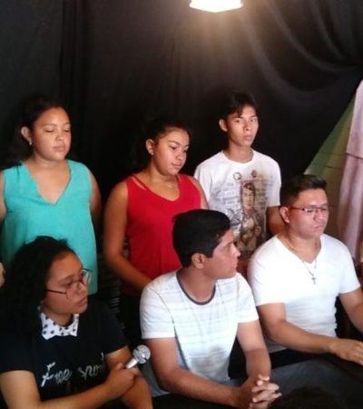 Integrantes del Ballet Folclórico del CBTIS 253, denuncian falta de apoyos y favoritismo para que el plantel de Cozumel participe en encuentro de cultura a nivel nacional