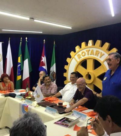 Organizan quinto Club Rotario en Cancún con la finalidad de aplicar el programa 'Conoce a tu policía'