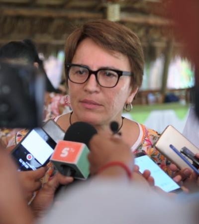 Dice Laura Beristaín que no dejará que Calica continúe con la extracción de material pétreo en los predios 'La Adelita' y 'El Corchalito'