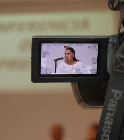 """""""NO PODEMOS TAPAR EL SOL CON UN DEDO"""": Reconoce Mara que persisten los problemas de inseguridad y la basura en Cancún"""