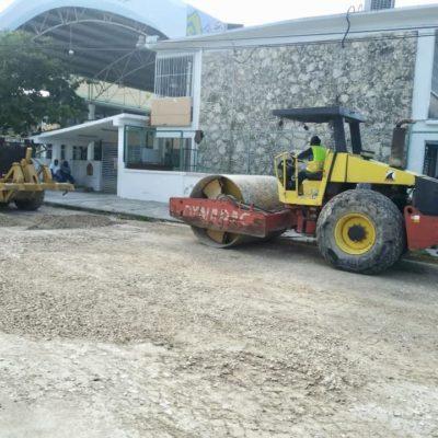 Repara Sintra el socavón que se abrió en la calle Cozumel de Chetumal