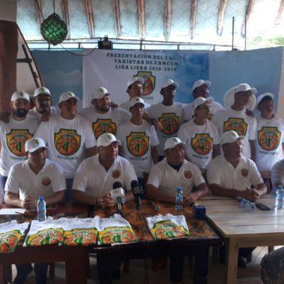 Presentan a 'Taxistas Cancún', el nuevo equipo que competirá en la Liga Estatal de Básquetbol