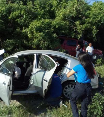 'Carreterazo' frente al Vidanta deja tres heridos