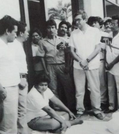 Vuelve AMLO a la plaza de Tabasco donde hace 23 años fue desalojado violentamente por priistas