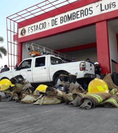 Por despido de comandante, después de 28 años de servicio, bomberos de Cozumel realizan paro de labores