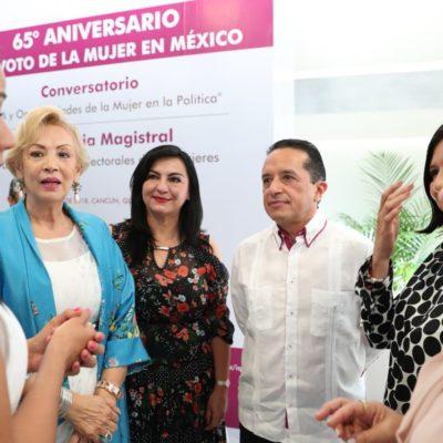 Las mujeres representan el triunfo de la razón sobre la exclusión y el olvido, dice Carlos Joaquín