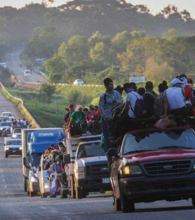 Detienen agentes de migración y federales a centenar de migrantes que se unirían a caravana