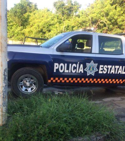 Chocan particular y patrulla policiaca, en Chetumal
