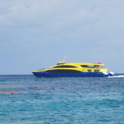 Suspenden cruces de ferries y transbordadores a Cozumel por tormenta 'Michael'