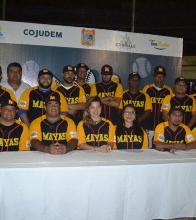 Presentan al equipo Mayas en Felipe Carrillo Puerto para la nueva temporada de beisbol