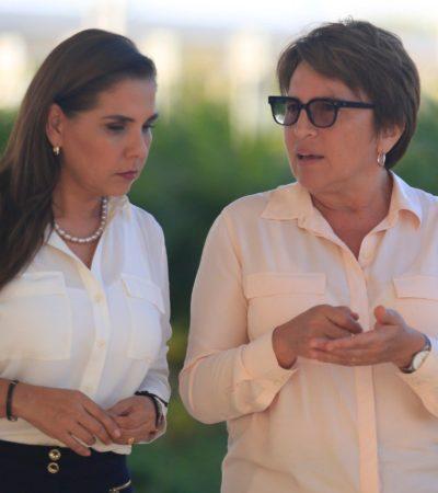 """SE REÚNEN ALCALDESAS DE GOBIERNOS MORENISTAS: Laura Beristaín y Mara Lezama dicen que """"unirán fuerzas"""" para impulsar a Solidaridad y Benito Juárez"""