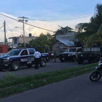 Ebrio conductor casi embiste a militares en Chetumal