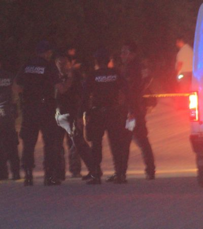 LE METIERON CINCO BALAZOS… LO HALLARON AL AMANECER: Encuentran ejecutado en la vía corta a Mérida en Playa del Carmen