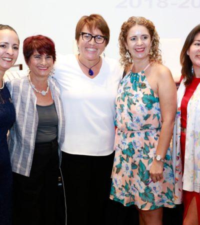 SE REÚNE LAURA BERISTAÍN CON MUJERES EMPRESARIAS: Ofrecen voto de confianza a la Alcaldesa en Solidaridad; acuerdan impulsar programas