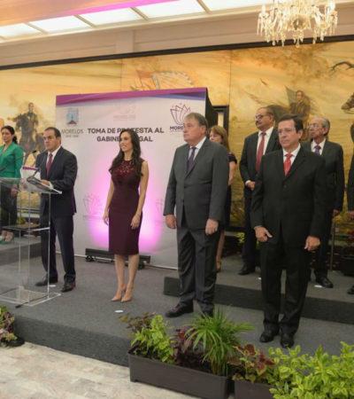 Presenta Blanco 'alineación' de gobierno a medias; Congreso Morelense le detuvo a 'cachirules'