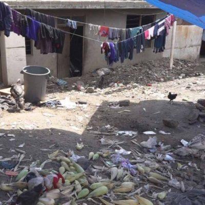 Malvivían los 63 indígenas chiapanecos en hacinamiento y condiciones insalubres en Oaxaca