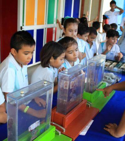 Arranca en Puerto Morelos la gira de la 'Caravana de la Ciencia'; más de dos mil personas podrán visitar el planetario móvil en el municipio