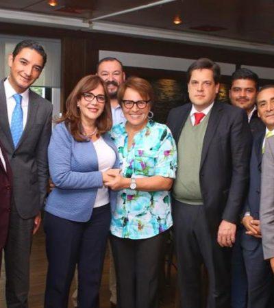 SE REÚNE LAURA BERISTAÍN CON YEIDCKOL: Cabildea Alcaldesa de Solidaridad paquete de obras por 683 mdp