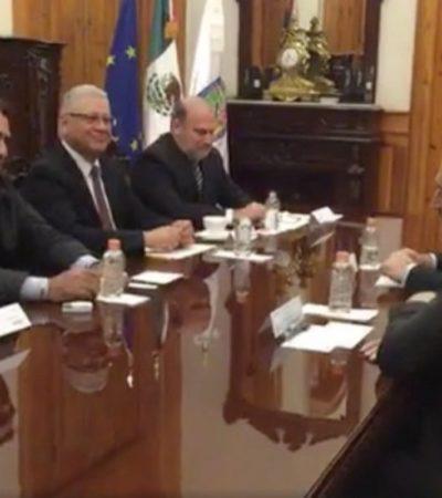 Dice 'El Bronco' a embajador de la Unión Europea que los regios son más gringos que mexicanos