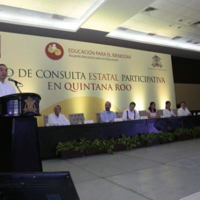 Maestros reiteran exigencia para derogar la Reforma Educativa en Chetumal