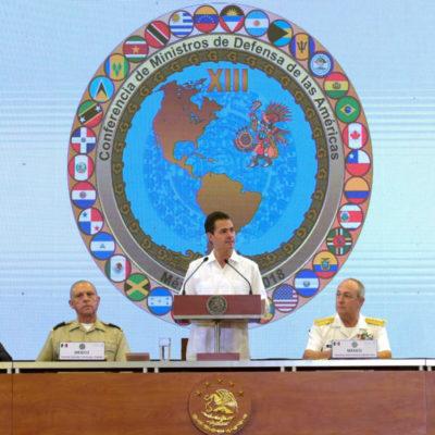 QUE SE ALCANZARON LOS OBJETIVOS: Peña Nieto clausura la 13ª Conferencia de Ministros de Defensa de las Américas y agradece la labor que se hizo por la seguridad durante el evento