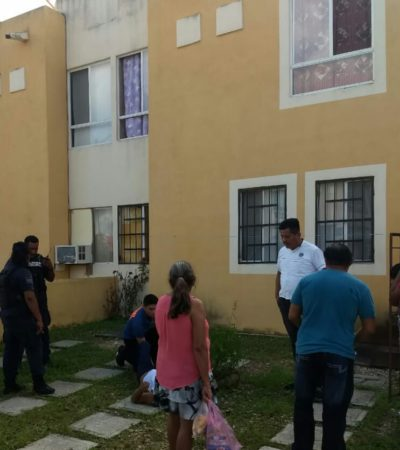 LO DEJARON ENCERRADO PERO QUERÍA SEGUIR 'PISTEANDO': Ebrio brinca de un segundo piso y se fractura una pierna en Playa del Carmen