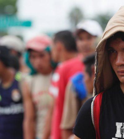 Llegan los primeros migrantes a Tapachula, Chiapas; carretera Panamericana luce sin retenes