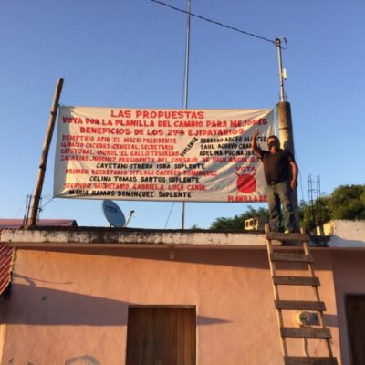 Aspirantes a dirigir ejido de Chiquilá comienzan campañas para dar a conocer sus propuestas de trabajo