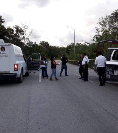 Por exceso de velocidad, motociclista derrapa y muere al estrellarse contra un árbol en la zona continental de Isla Mujeres